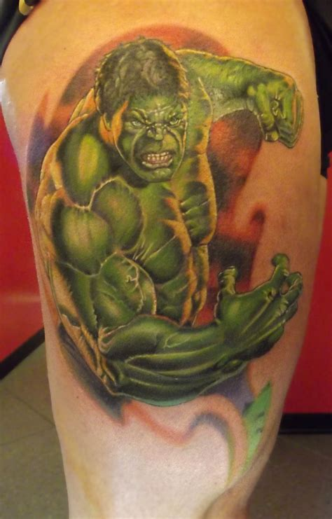 hulk tattoos by ettore bechis and