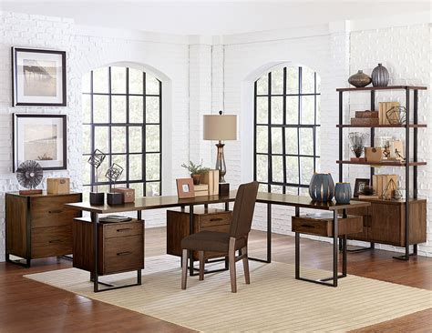 homelegance sedley home office set walnut 5415rf 15