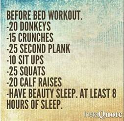 before bed workout health wellness