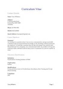 word document sle resume resume format for a word doc