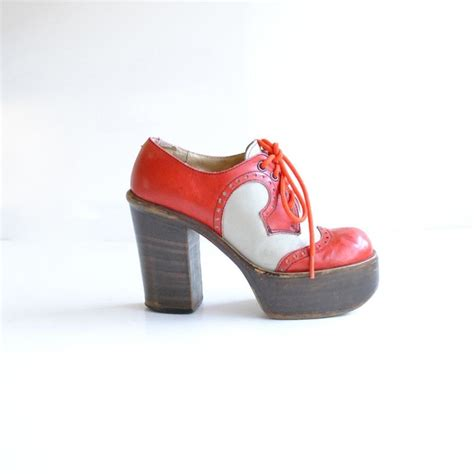 reserved 70s platform shoes size 6 saddle shoes