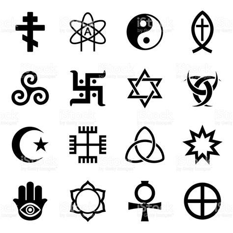imagenes simbolos religiosos vector de conjunto de iconos s 237 mbolos religiosos arte