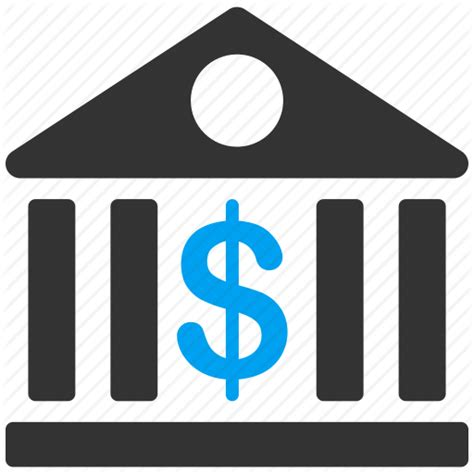 bank icon bank building banking business center finance