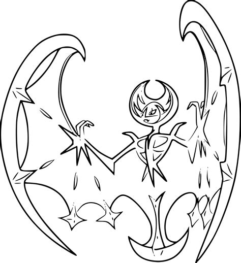 Pokemon Lunala Coloring Page Images Coloring Pages