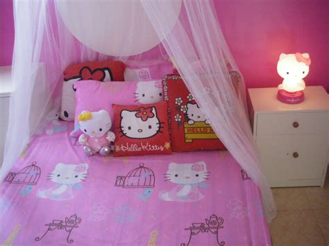 hello kitty bedroom for girls awesome girls bedroom decoration with hello kitty themed and white mosquito net fnw