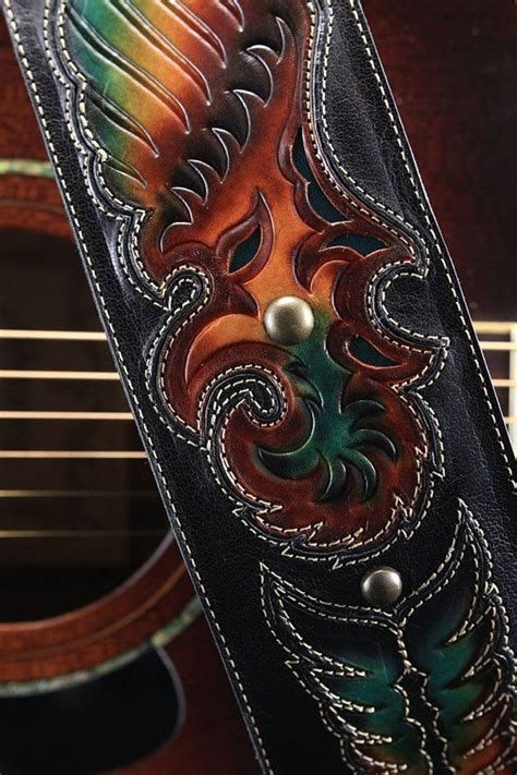 Handmade Leather Guitar - 1000 ideas about guitar straps on guitars