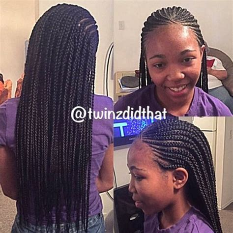 braid styles going to the front box braids with cornrows in the front natural hair style