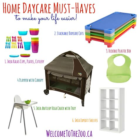 must haves for home daycare
