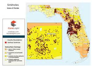 map of sinkholes in florida for areas prone pictures to