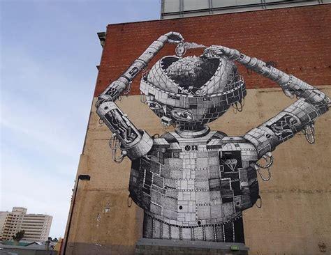 village encapsulated    story robots head