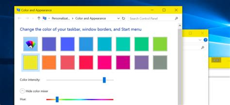 how to get colored window title bars on windows 10