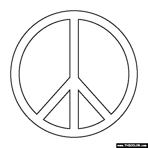 what is the color of peace peace symbol coloring page
