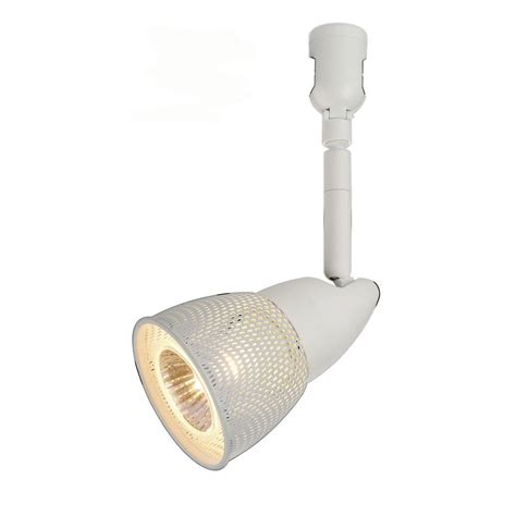 Hton Bay Track Lighting Fixtures Hton Bay 120 Volt Brushed Steel Track Lighting Fixture With Mesh Shade Ec0830ba
