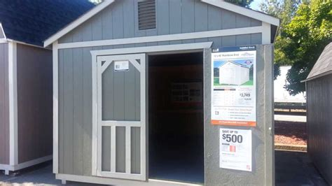 home depot outdoor storage barn rainbow