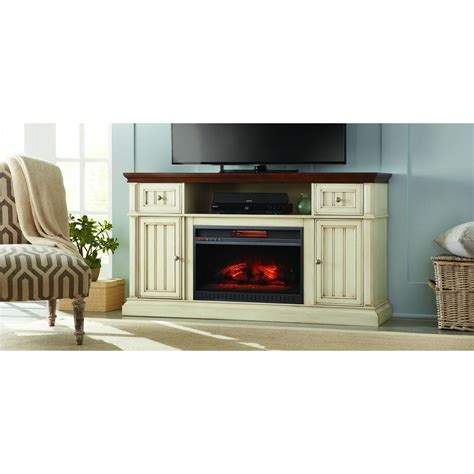 antique white electric fireplace home decorators collection montauk shore 60 in media