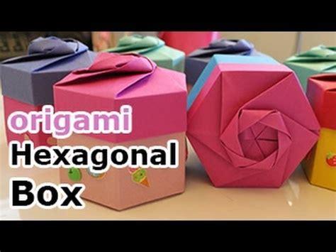 Origami Hexagonal Gift Box - caja hexagonal origami diagrama imagui