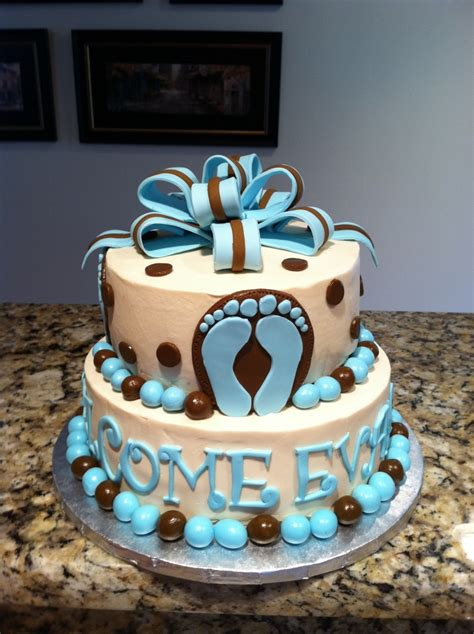 Footprints Baby Shower Theme by Footprints Baby Shower Cake Cakecentral