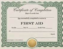 first aid certificate printable templates