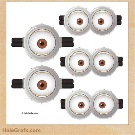 minion eyes printable black and white gafas u ojos de minions y anti minions para imprimir
