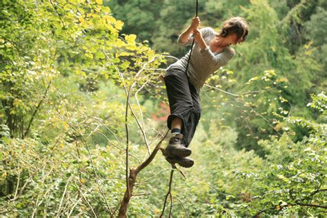 rope swinging business as usual bristol united kingdom uk