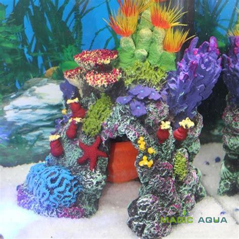 Tumbuhan Coral Artifisial Dekorasi Aquarium 1pcs beautiful resin artificial coral ornament for marine fish tank aquarium decoration in