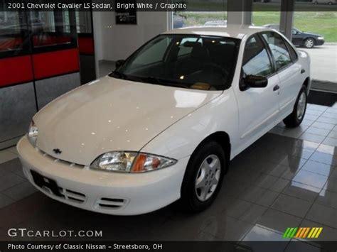 bright white  chevrolet cavalier ls sedan graphite