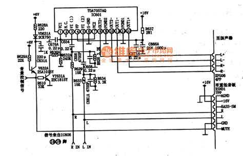 integrated circuit parts tda7057aq integrated block typical application circuit automotive circuit circuit diagram