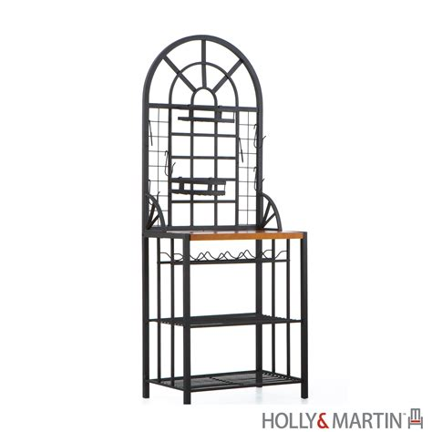 Bakers Rack With Wine Rack by Summit Baker S Rack Wine Rack And Martin