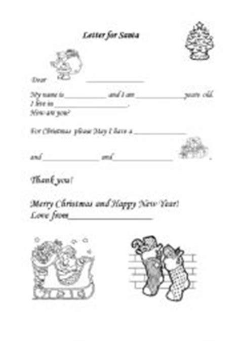 letter to santa template worksheet esl kids worksheets letter for santa