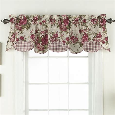 waverly curtains and valances waverly norfolk 60 quot valance reviews wayfair
