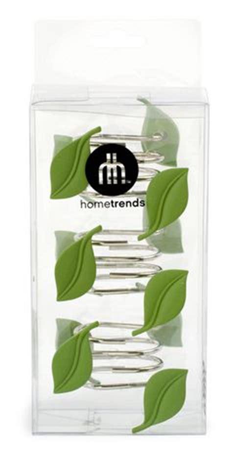 leaf shower curtain hooks home trends set of 12 shower curtain hooks embossed leaf