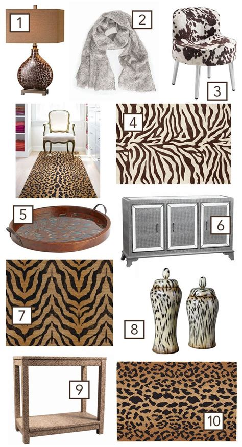 animal print home decor how to use animal prints in home decor
