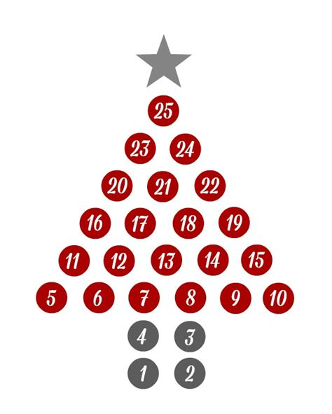 hershey s kisses christmas countdown organize and