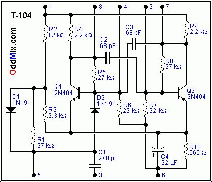 germanium diode advantages t 104 multivibrator integrated early computer germanium transistor diode circuits
