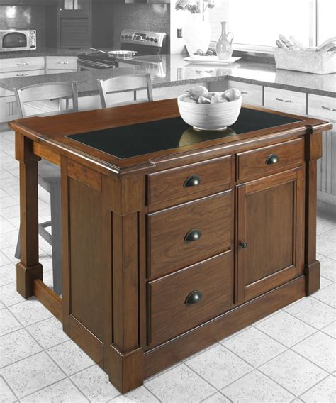 Kitchen Island With Leaf Home Styles Aspen Kitchen Island W Drop Leaf Support Granite Top By Oj Commerce 5520 945