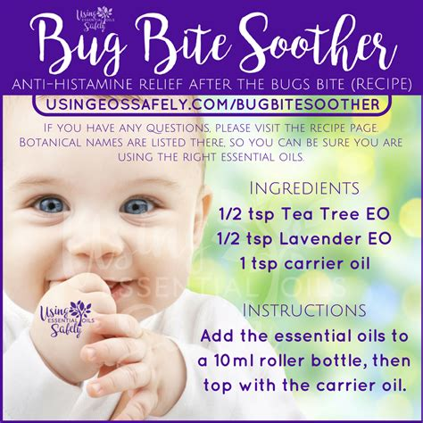 Insect Bites With Essential bug bite soother anti histamine relief after the bugs