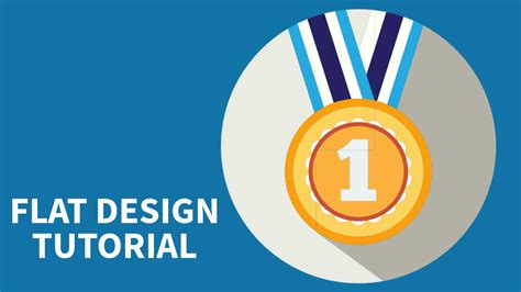 tutorial photoshop flat design medal icon design tutorial photoshop ui design tutorial