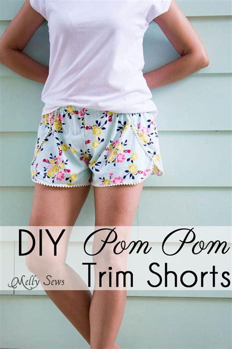 shorts pattern pinterest sew pom pom shorts with free pattern melly sews