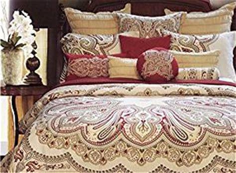 nicole miller feathers queen comforter set com nicole miller burgundy red blue tan beige
