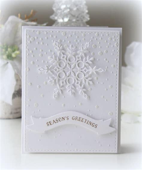 Handmade Die Cut Cards - handmade winter card all white snow