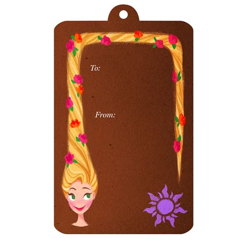 new gorgeous disney princess printable gift tags for the