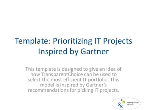 garter templates project prioritization of it inspired by gartner
