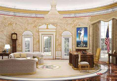what does the oval office look like today what a trumpified white house would look like viatechnik