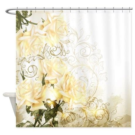 artistic curtains artistic yellow roses shower curtain by showercurtainshop