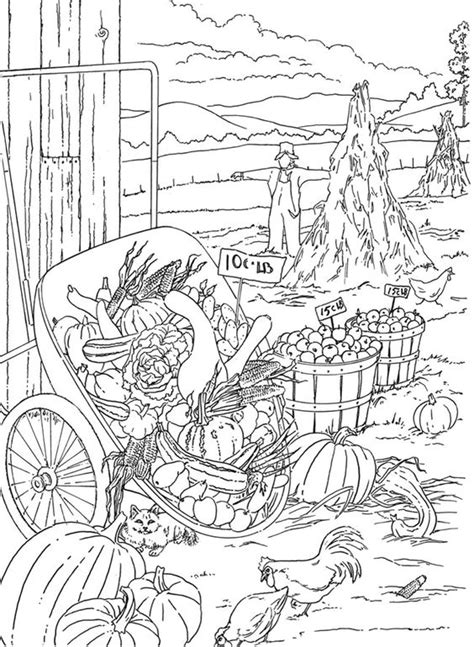 autumn scene coloring pages pinterest the world s catalog of ideas