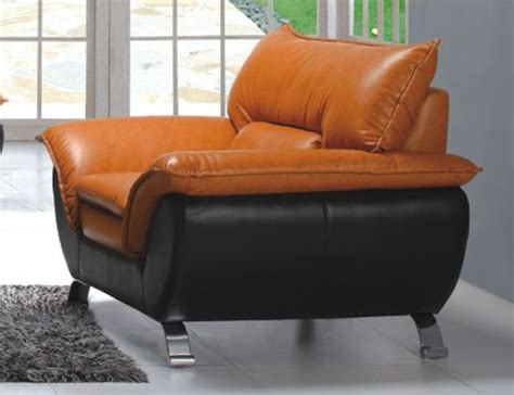 Comfortable and Contemporary Half Leather Living Room Arm