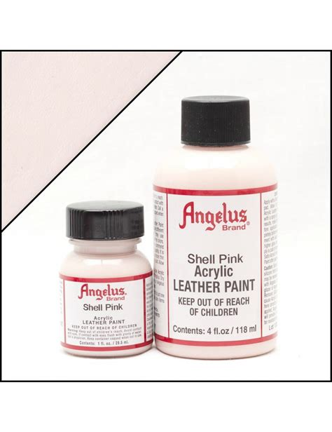 angelus paint vs dye angelus dyes paint shell pink 1oz leather paint