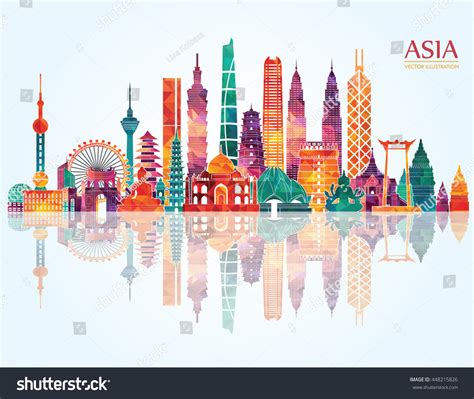 indonesia detailed skyline vector illustration stock asia skyline detailed silhouette vector illustration stock