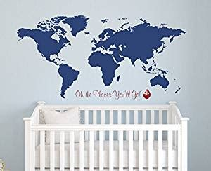 Places To Buy Wall Decor by World Map Wall Decal Oh The Places You Ll Go