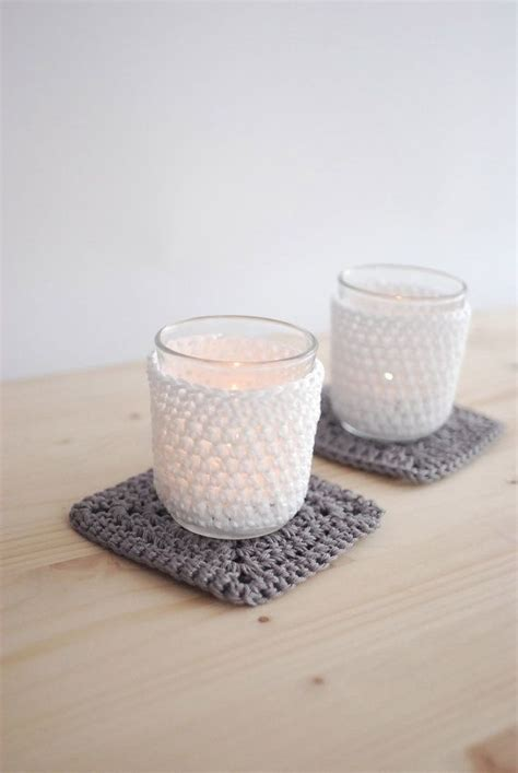 candelabros o candelabros frascos o candelabros decorados crochet para el hogar